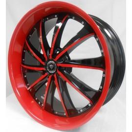 0016 20''X8.5 BLACK & RED