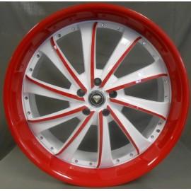 0016 20''X8.5 RED & WHITE
