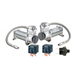 Dual Pack : (2) ViAir 380C Chrome Compressor (200psi.)