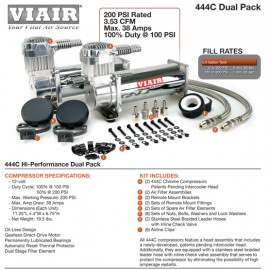 Dual Pack: (2) ViAir 444C Chrome Compressor (200psi.)