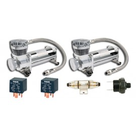 Dual Pack: (2) ViAir 480C Chrome Compressor (200psi.)