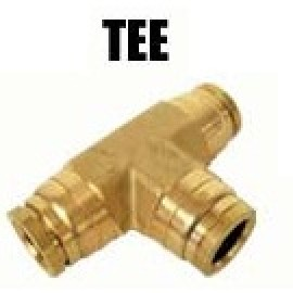 1/2M to 1/2M to 1/2F Tee with 1/8F NPT