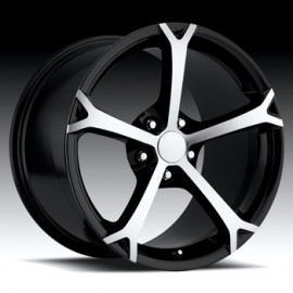 Corvette C6 Grandsport 19x12 Machine/Black