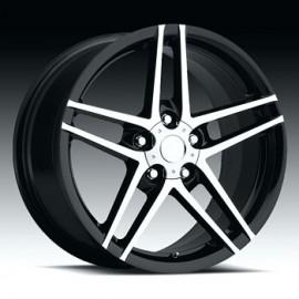 Corvette C6 Z06 19x10 Machine/Black