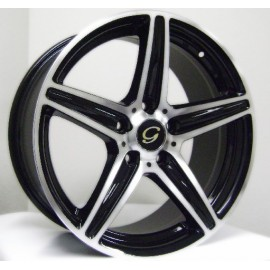 G253 18''X 8- BLACK MACHINED