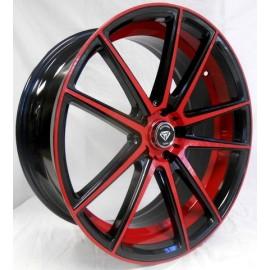 3197 22''x 9 RED & BLACK